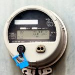 A digital electrical meter.